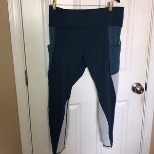 Athleta colorblick leggings